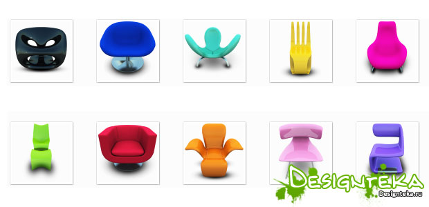 Archigraphs Modern Chairs - иконки предметов мебели